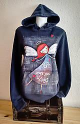 Mikiny - Hope gives you wings - ručne maľovaná mikina - 10404687_