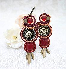 Náušnice - Z pokladu Aztékov /šujtášové náušnice/ - 10404416_