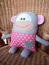 Bábiky - opica- vankúšik - 10404805_