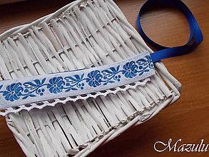 Opasky - Folklórny opasok v modrom - 10402508_