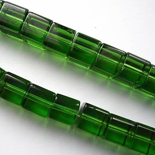 Sklenené kocky 8mm-1ks (zelená)