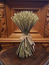 """Dekorácie - prírodná kytička """"obilie"""" s jutovou mašľou - 10402924_"""