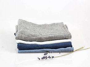 Úžitkový textil - Ľanová utierka - na želanie (svetlomodrá) - 10403850_