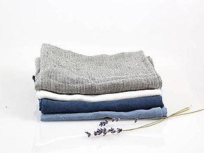 Úžitkový textil - Ľanová utierka - na želanie (tmavomodrá) - 10403854_