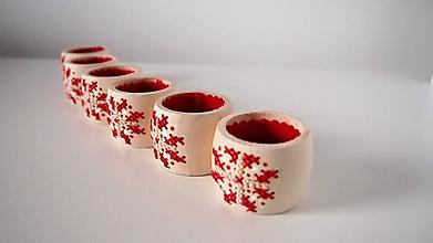 Dekorácie - Červeno biely kvet -  prestieranie - 10404424_