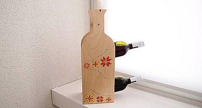 Pomôcky - Stojan na víno - do dreva vyšívaná Oranžáda - 10404543_