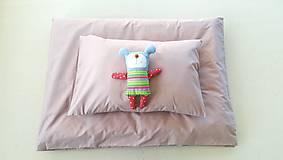 Textil - Obliečky do postieľky VLNIENKA -  Faded ROSE / DUSTY PINK 100 x 140 cm/ 40 x 60 cm - 10405881_