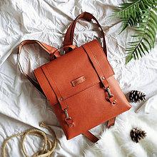 Batohy - Kožený batoh Ruby (tehlovo-oranžový) - 10402190_