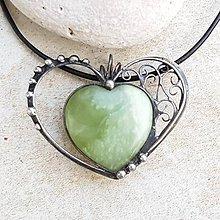 Náhrdelníky - ALAIN heart náhrdelník - 10404080_