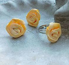 Sady šperkov - Vintage sada romantika ružičky v svetlej žltej - 10404553_