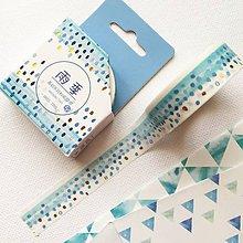 Papier - ozdobná papierová pásky modré bodky so zlatom - 10404220_