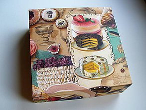 Krabičky - krabička na zákusky LIMITED - 10402516_