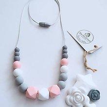 Náhrdelníky - silikónový dojčiaci náhrdelník - 10401876_