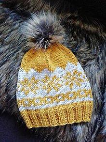 Detské čiapky - Horčicova čiapka - 10403285_