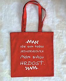 Nákupné tašky - taška nie som jednorázovka - 10405938_