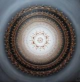 Obrazy - KVET ŠŤASTIA BIELY (gold) 60 x 60 - 10404066_