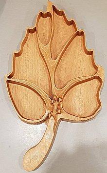 Nádoby - Drevená miska na oriešky - 10405734_