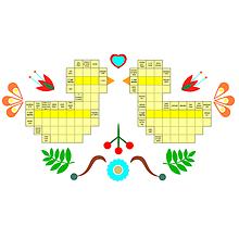 Grafika - Krížovka na želanie s folklórnym motívom - 10405635_