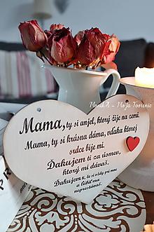 Tabuľky - Srdiečko Mama - 10404479_