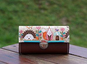 Peňaženky - Peněženka Woodland Critters Hnědá, 18 karet, 2 měny - 10402706_