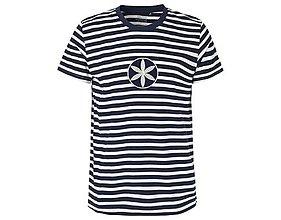 Tričká - Neutral®, Pánske bavlnené tričko, modré prúžky, Svarga - 10403784_
