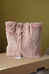 Veľké tašky - Koženo-kožušinová SHOPPER kabelka-PUDROVO-RUŽOVÁ - 10405549_