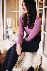 Tričká - Tričko na dojčenie Basic Lilac - 10405864_