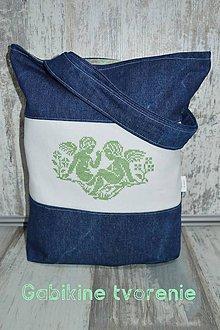 Veľké tašky - Vyšívaná taška - 10404948_