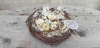 Dekorácie - Veľkonočná dekorácia...Hniezdo - 10403368_