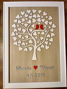 Darčeky pre svadobčanov - Kniha hostí - svadobný strom - 10405144_