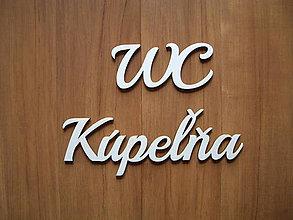Polotovary - Tabuľky z dreva - WC - 10405304_