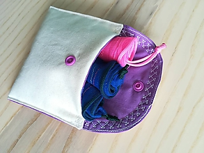 Nákupné tašky - Nákupná súprava vreciek na zeleninu - basic (Rainbow Purple) - 10403051_
