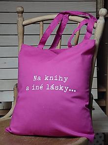 Nákupné tašky - Taška - na knihy a iné lásky... - 10402625_