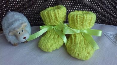 Topánočky - Ponožtičky (3-9 mesiacov) (Žlté) - 10403849_