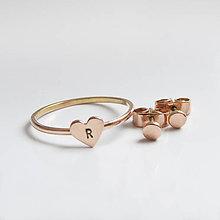 Prstene - Spolu_Sme (m)iní (Zlatý prstienok so srdiečkom (bez náušničiek)) - 10402303_