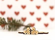 Materiál ručne robený - Štítok koliesko  -  Made with love (2cm x 1,7cm - Béžová) - 10405004_