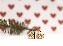 Materiál ručne robený - Štítok koliesko  -  Made with love (2cm x 1,7cm - Béžová) - 10405005_