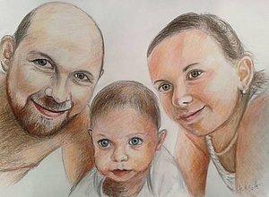 Kresby - rodinka-farebne... :-) - 10403054_