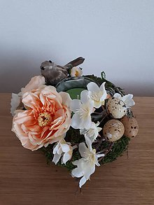 Svietidlá a sviečky - Jarné hniezdo s vôňou jablka - 10401904_