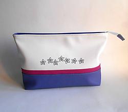 Taštičky - fialová s kvietkami - 10402519_