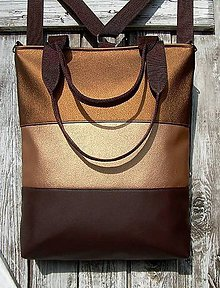 "Batohy - ""backpack 3in1- bronze"" - Batoh & taška cez rameno - 10405626_"