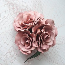 Ozdoby do vlasov - Fascinátor s ružami - 10396378_