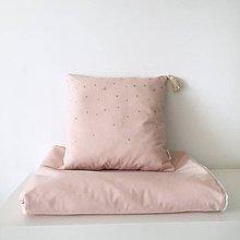 """Textil - Vankúš a deka """"Gold Stars"""" - 10404943_"""