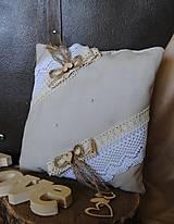 Drobnosti - Vankúšik pod obrúčky - vintage - 10407326_