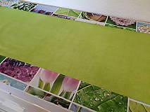 Úžitkový textil - Jarný set  (Stredový obrus s kvetinovým lemom) - 10406522_