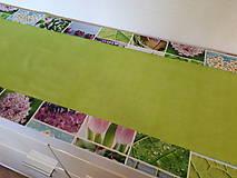Úžitkový textil - Jarný set  (Stredový obrus s kvetinovým lemom) - 10406523_