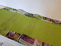 Úžitkový textil - Jarný set  (Stredový obrus s kvetinovým lemom) - 10406524_