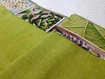 Úžitkový textil - Jarný set  (Stredový obrus s kvetinovým lemom) - 10406525_