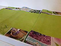 Úžitkový textil - Jarný set  (Stredový obrus s kvetinovým lemom) - 10406529_