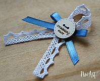 Pierka - Svadobné pierka pre rodičov a svedkov holubia modrá, koliesko - 10408131_